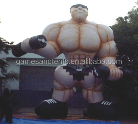 12m Tall inflatable muscle man balloon for advertising ,high quality F1014