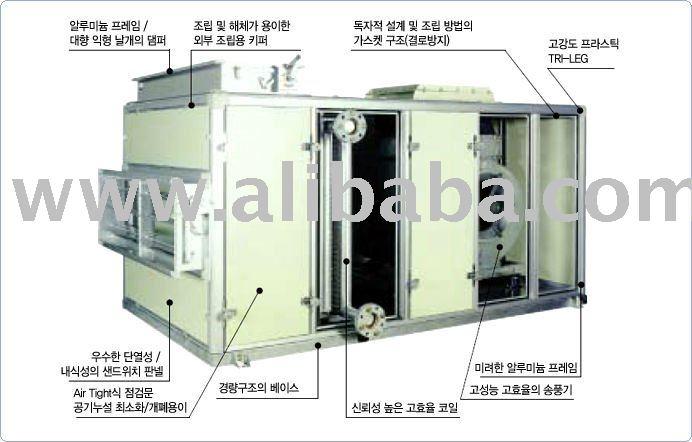 Unidad de tratamiento de aire chiiler sistema de aire for Torre aire acondicionado