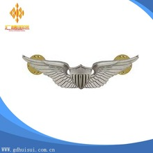 Top sale cheap lapel pin design custom metal pilot wings pin badge