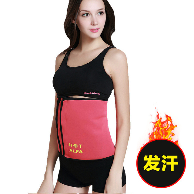 Adjustable Neoprene Sauna Slimming Fat Burning Belt Waist Trainer Corset Body Shaper For Women