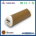 Professional manufacturer power bank lipstick portable brown