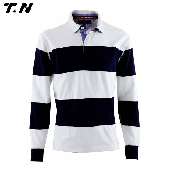 Long sleeve cutom rugby shirt manufacturer