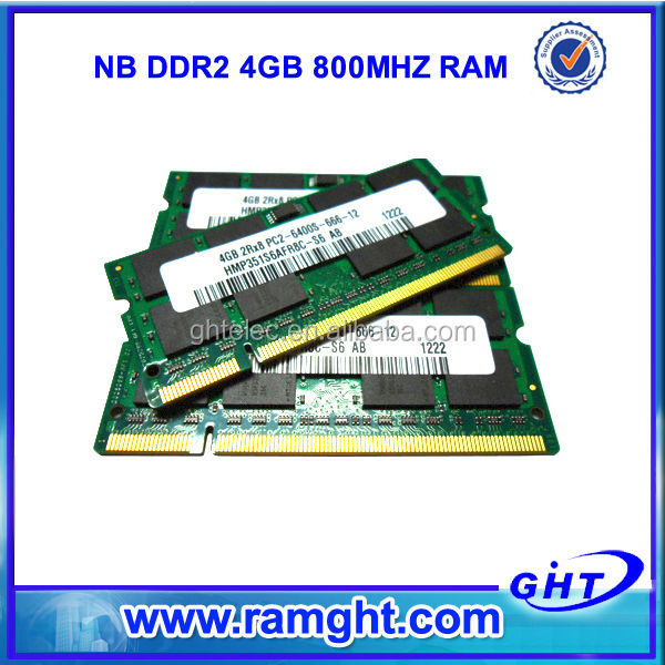 100% tested before delivery memoria ram 800mhz sodimm ddr2 4gb for laptop