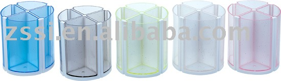 Rotary Pen holder/transparent pen holder/Chinese stationery office
