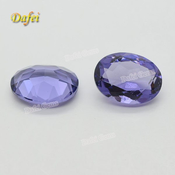 Top Quality Purple Color Oval Shape Synthetic <strong>Diamond</strong>