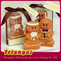 Wedding Favors Adorable Gingerbread Bride & Groom Candle