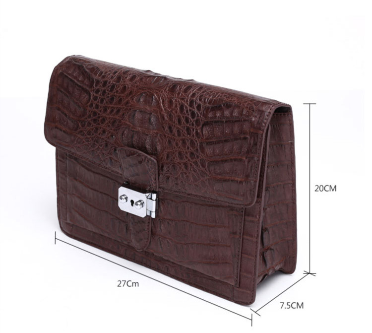 Crocodile Leather Wallet Genuine Crocodile Skin Bag Stylish Clutch Bags Men Handmade Luxury Leather Office Bags for Men