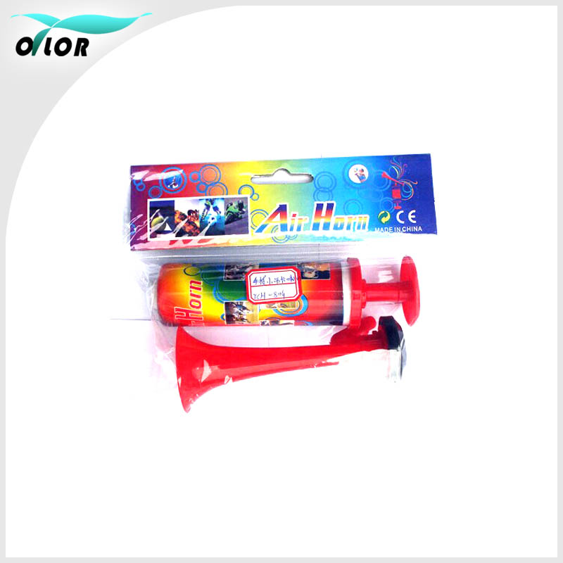 Cheap colorful fan articles promotional air horn whistle