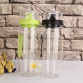 Stocked black green pink color 32oz bpa free fruit infuser water bottle