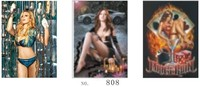 Hot selling sexy cool girl lenticular painting 3d flip