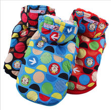 multicolor dot Two feet warm Pet clothes dog coat