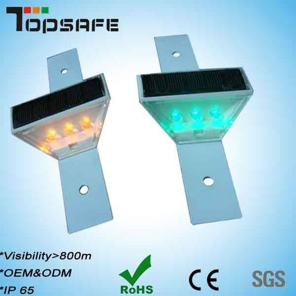 CE approved Solar Powered Hurdle Warning Light