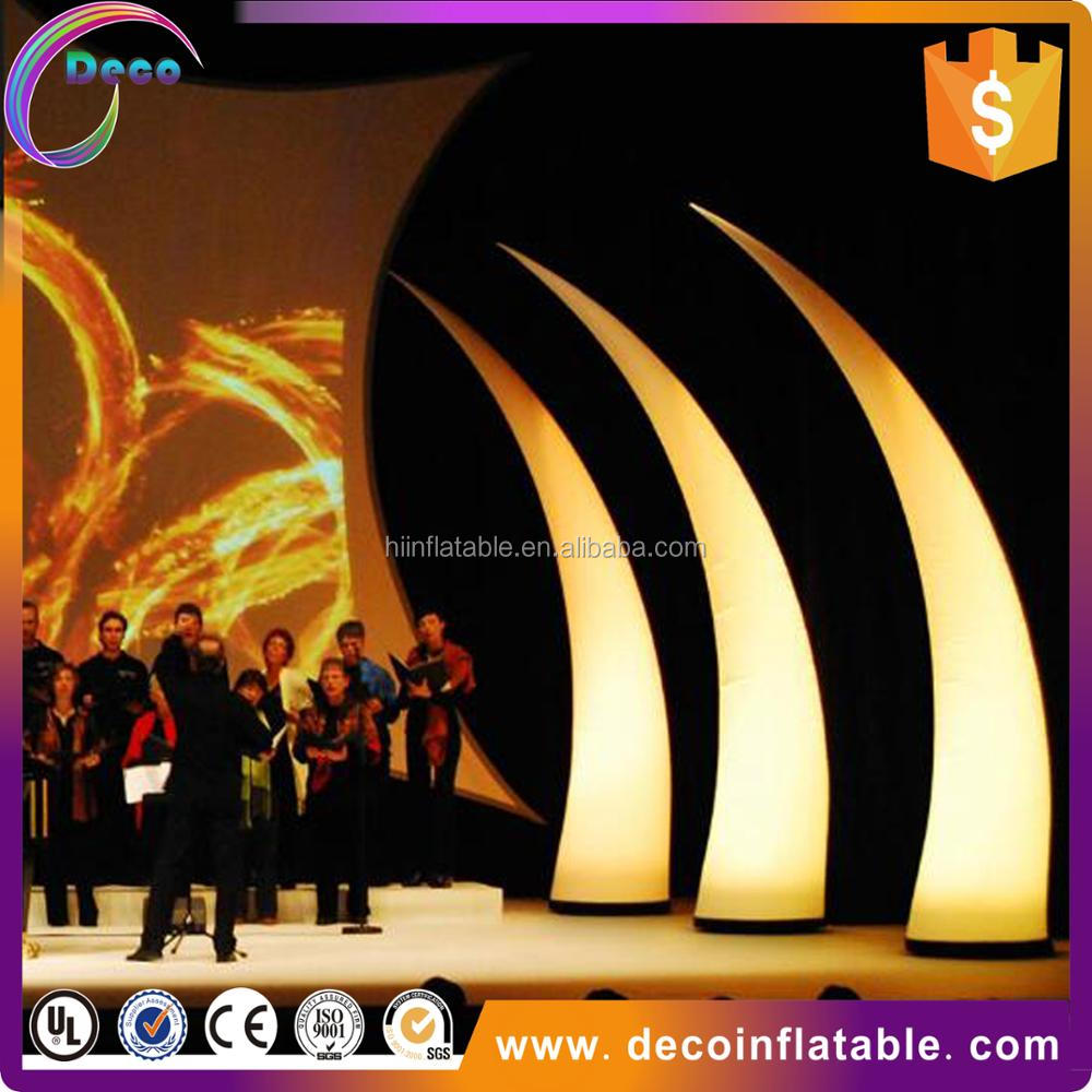 Colorful inflatable column with LED/inflatable lighting ivory/inflatable lighting tower