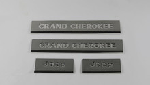 CLASSIC SILVER stainless steel door sill plate used for Grand Cherokee