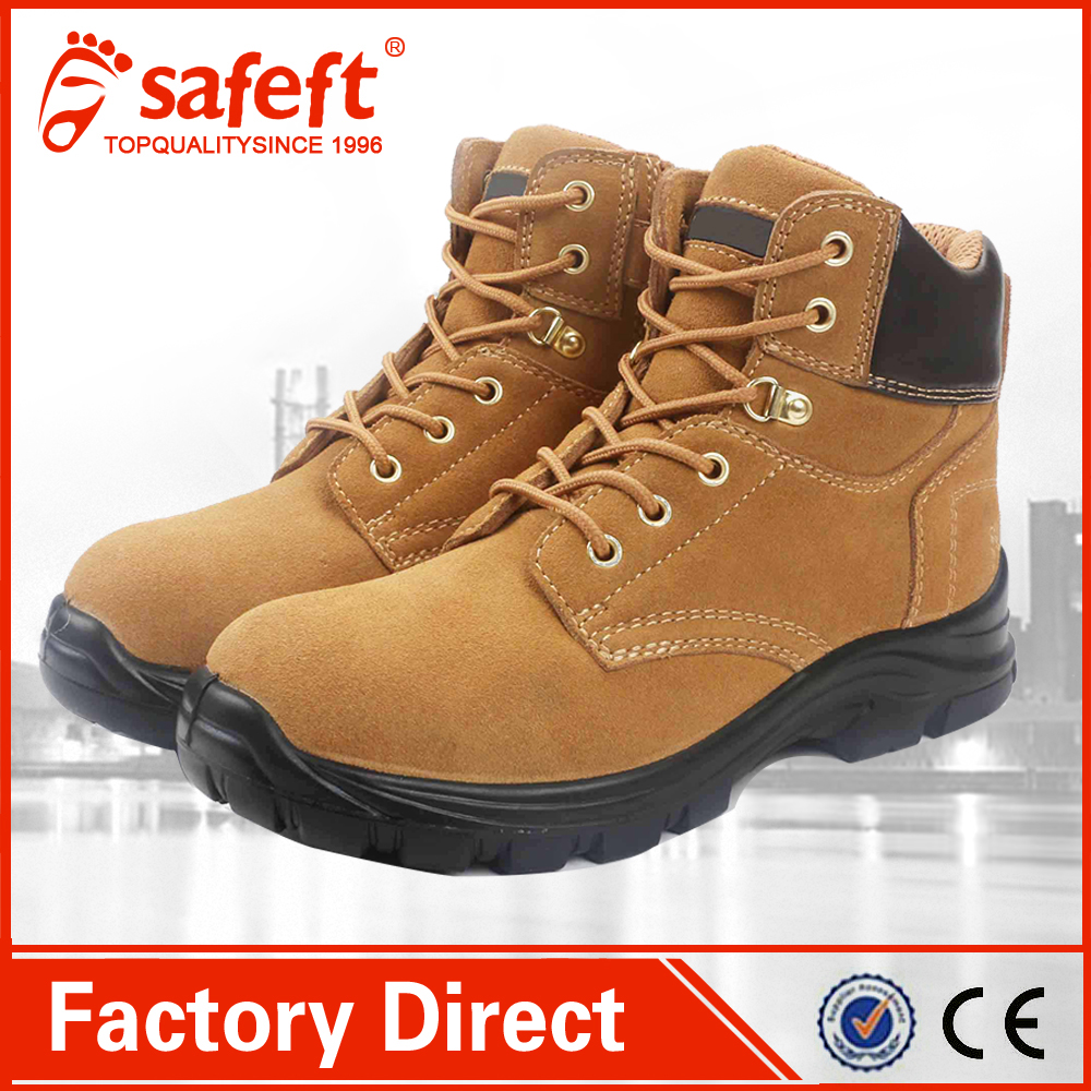 TPU sole foot protection suede leather work construction good looking safety shoes