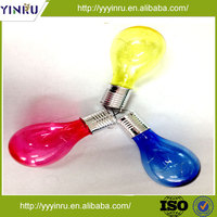 Plastic colorful solar powered decoration LED bulb lighting