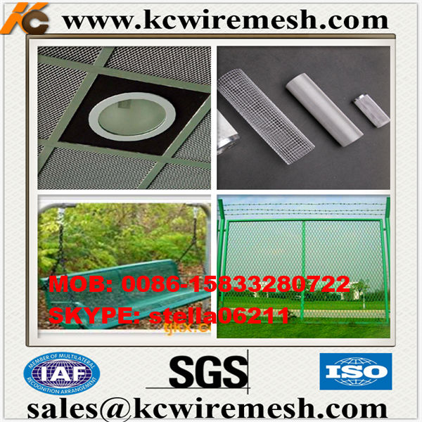 Cheap!!!!!!!!!!!! KANGCHEN Special Size Aluminum Expanded Metal Mesh Decorate construction to protect wire mesh