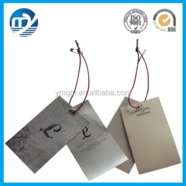 Custom Cardboard Paper Hang Tag for Clothing