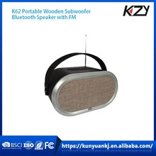 Shenzhen KZY 2016 new Hands-free subwoofers wood bluetooth speakers
