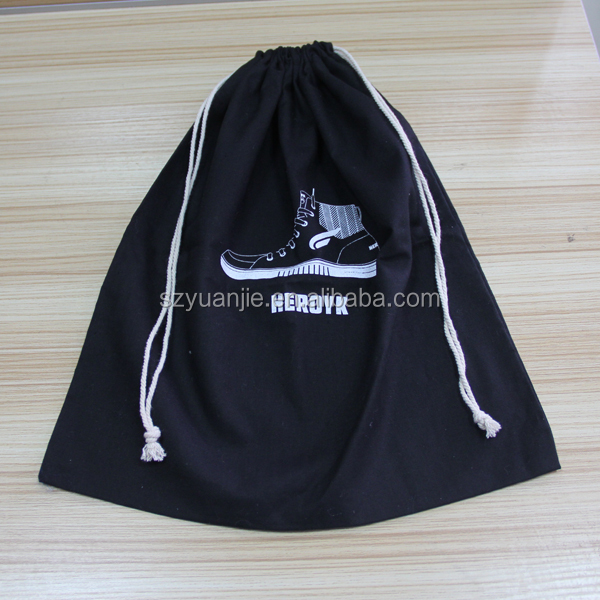 cotton material ballroom dance shoe bags with custom printed logo