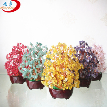 gemstone trees for sale/Gemstone 7 chakra 500 bds crystal tree | wholesale Gemstone Tree for decoration & energy