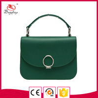 Alibaba clutch bag dark green leather small ladies' handbag at low price
