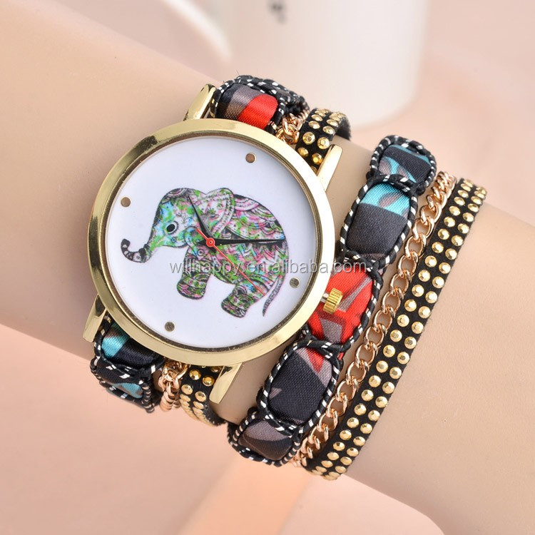 WJ-4690 China wholesale trendy quartz multicolor womans bracelet watch
