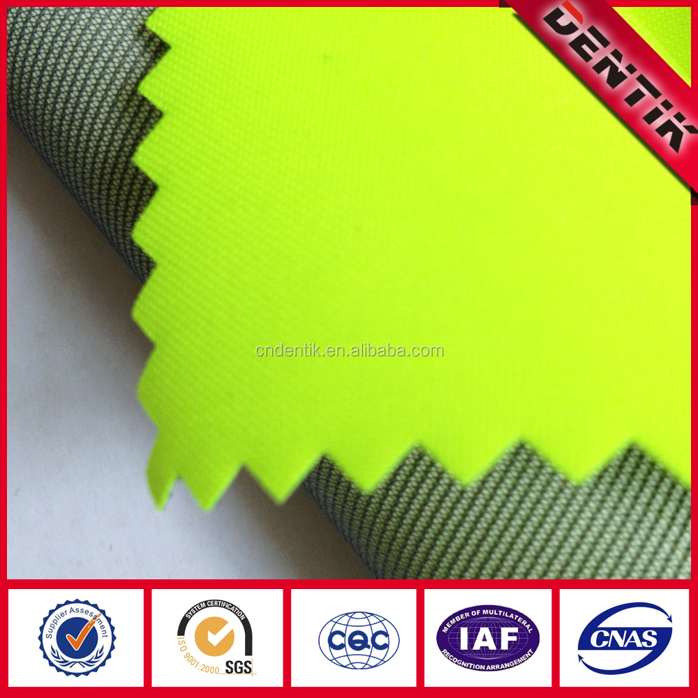 3-layer PTFE Laminated Polyester Oxford Fluorescent Fabric with Windproof Waterproof Breathable Like Gore tex for Safety Wear