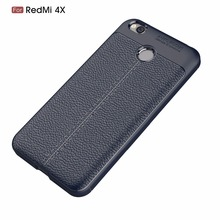 Case For Redmi 4X,Newest Litchi Line Silm Soft TPU Back Case Cover For Redmi 4X