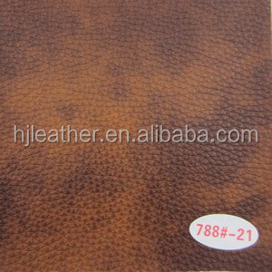 Two Tone color PVC leather cloth for sofa use