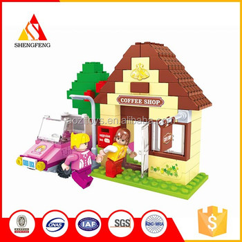 Educational building various styles large toy plastic building blocks for kids