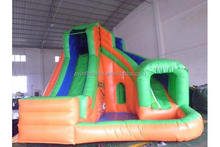 Kids inflatable water slide with small pool, residential backyard water slides factory price
