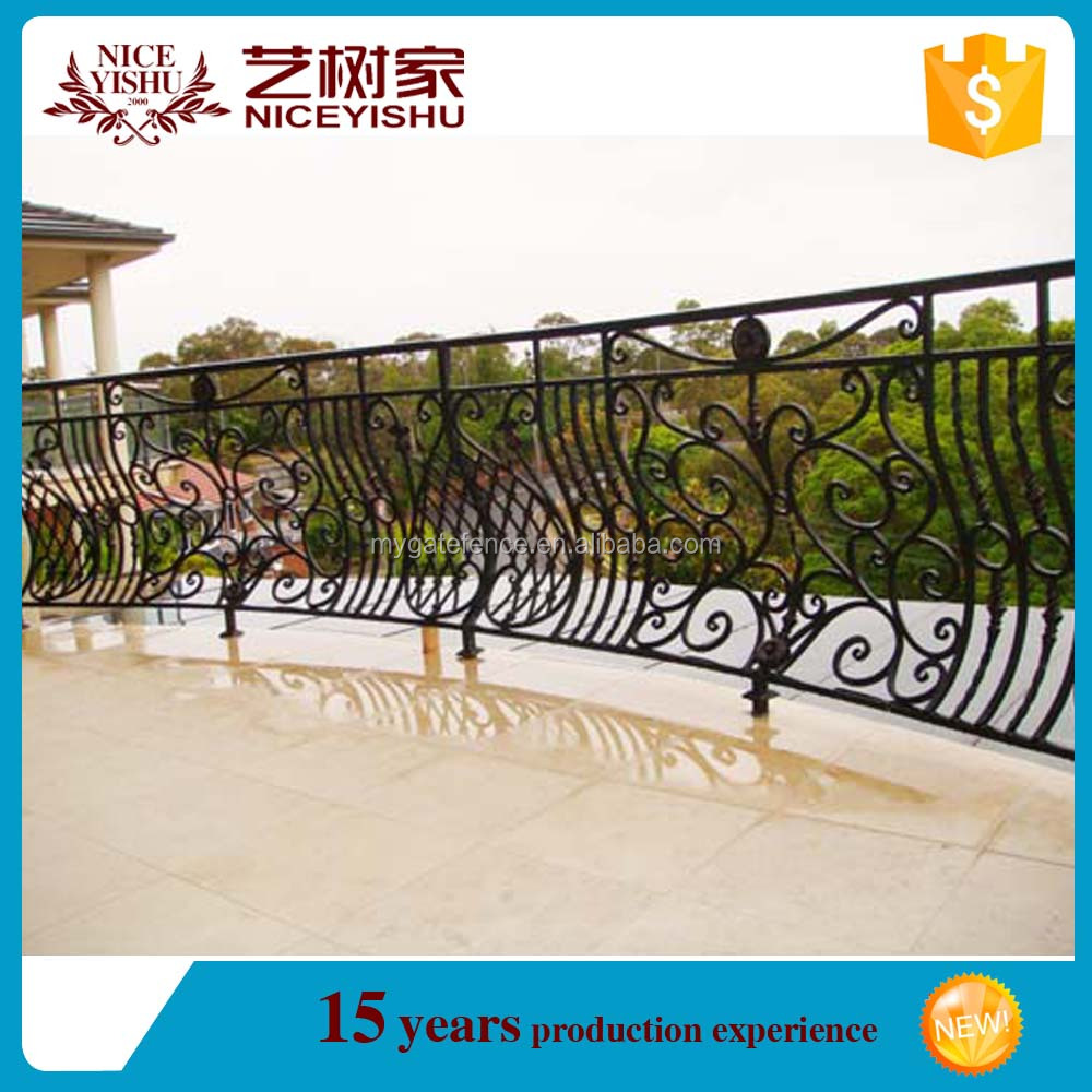 gold price decorativie new 2016 simple cheap modern iron railing design for homes /luxury ornamental aluminum balcony balustrade