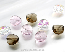 wholesale leaf shape crystal trimming beads13x22mm