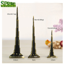 Metal Promotion gift Burj Khalifa tower craft Dubai Travel Souvenir 3D building model