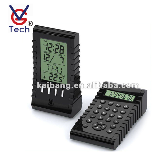 Multi-Function Calculator LCD Clock With Alarm Temperature Display