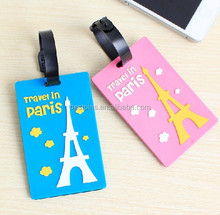 Paris tourist Eiffel Tower backpack tag, France souvenir eiffer tower luggage tags