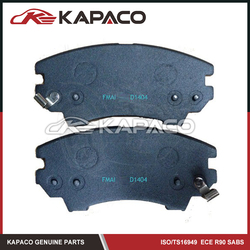 China brake pad for USA Cars BUICK CHEVROLET SAAB D1404 13237751