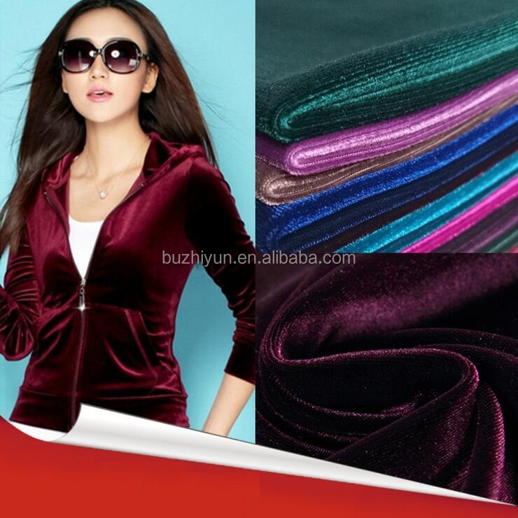 polyester spandex shinny korean fabric for sportwear
