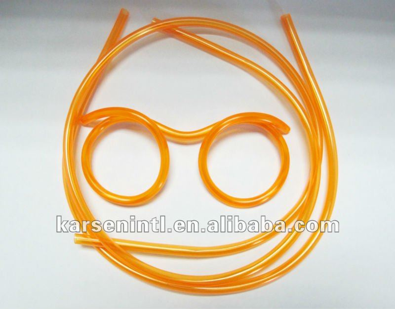 Hot Sale Novelty items Amazing Silly Straw Drinking Glasses Eyeglass Flames Piped 5 Colors best gift Straw