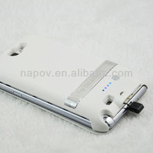 cell phone case rechargeable flip case for samsung galaxy note2 N7100