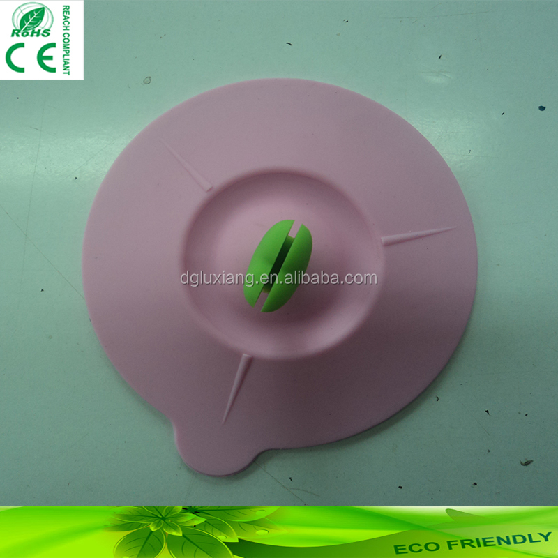Custom Heat Resistant Silicone Cup Cover Cup Lid