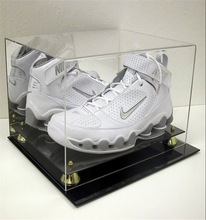 best selling showcase acrylic shoe display case for nike with base