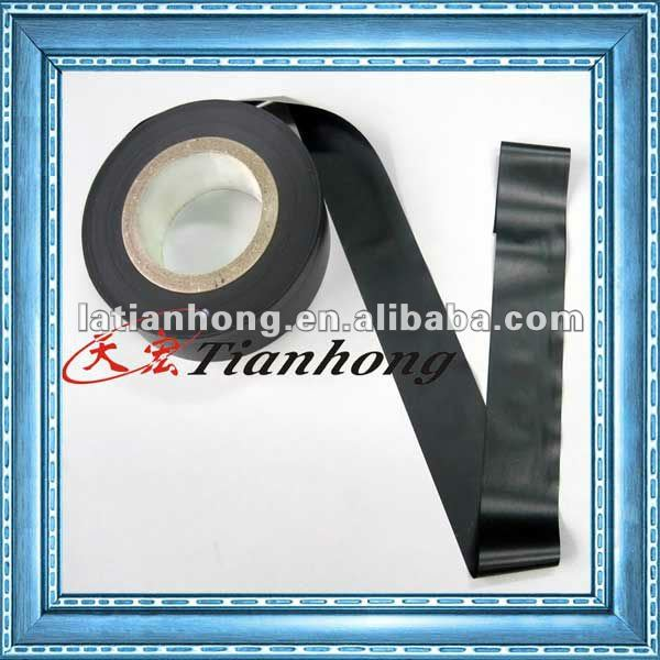 Black PVC tape of good transparency and insulation for duct