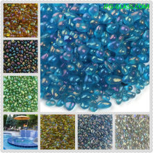 Iridescent Glass bead for swimming pool plastering finishes of swimming pool interiors and construction-Spot Goods