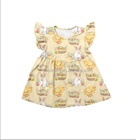 Bunny with chick smocked bishop dress for Easter
