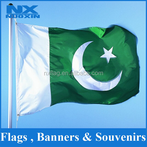 NX Flag Custom all country Knitted Polyester Cheap price Pakistan nation flag