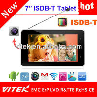 Hot model 7 inch Android Quad core wifi digital ISDB tablet pc with tv function