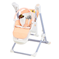 New product new designed Guangdong Factory wholesale Baby Infant Swing High chair feeding Reclining Adjustable Seat Height MP3