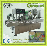 Automatic cup filling and sealing machine for milk/juice/yogurt/jelly